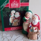Checking his List 1991 Mr & Mrs Claus Hallmark ornament series sixth
