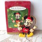 Bell Ringing Santa Mickey Mouse Hallmark 2001 Ornament Disney