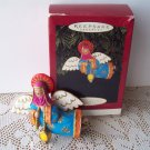 Hallmark Lighting the Way Angel Christmas Ornament 1996 Folk Art
