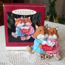 Hallmark 1993 Ornament Foxes Slippers Mom and Dad