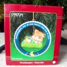 Granddaughter 2001 Carlton Kitty Cat Christmas Ornament