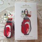 Ho Ho Hole in One Golf Bag 2010 Hallmark Christmas Ornament