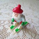 Hallmark 1989 Snowplow Santa Christmas Ornament Skiing