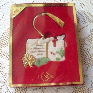 Lenox Our Home to Your Home Christmas Ornament Mailbox 2001