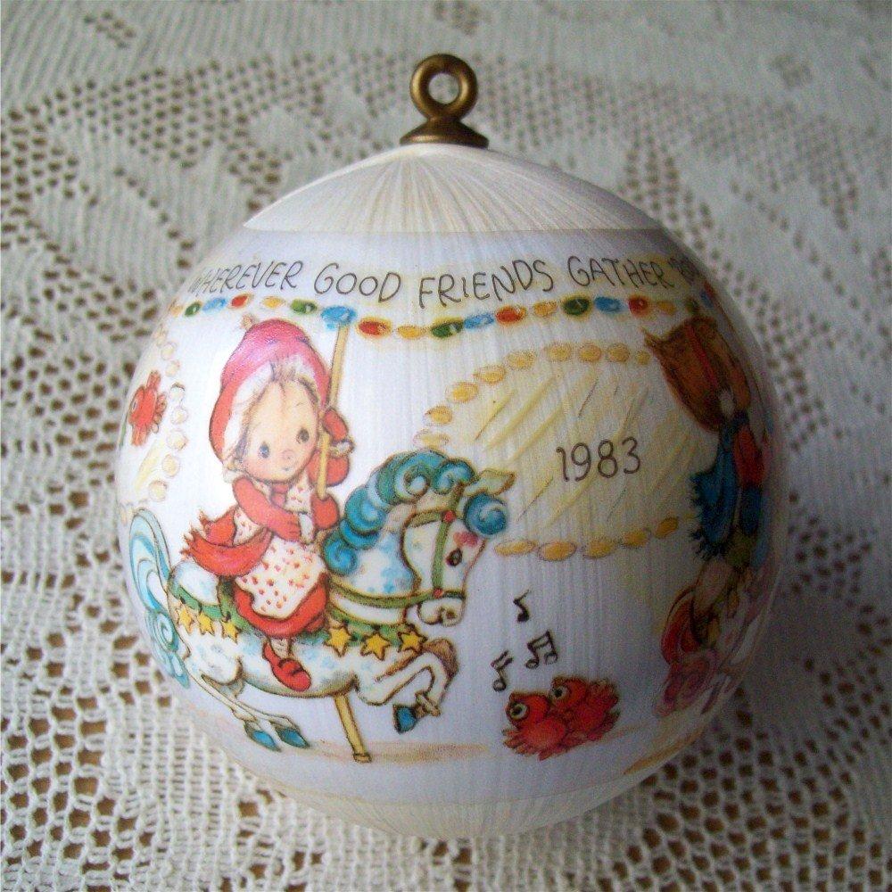 1983 Satin Ball Betsey Clark Merry Go Round Hallmark Ornament