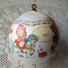 1983 Satin Ball Betsey Clark Merry Go Round Hallmark Ornament