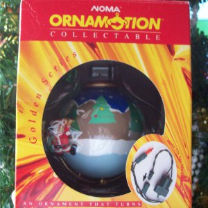 Noma Ornamotion Around the World rotating Christmas Ornament