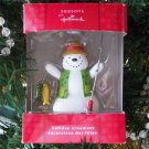 Hallmark Seasons Snowman Fishing Ornament 2010