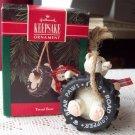 Hallmark Tread Bear 1992 Christmas Ornament Tire Swing