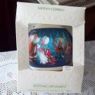 Santa's Coming 1981 Hallmark Satin Ball