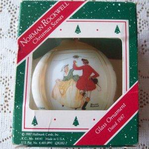 Norman Rockwell Christmas Scenes 1987 Hallmark ornament