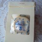 Mother 1978 Glass Ball Holiday Ornament Hallmark