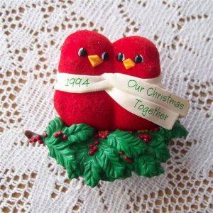 Clip On Hallmark Ornament 1994 Our Christmas Together Birds