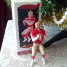 Joe Montana Football Legends #1 1995 NFL Hallmark signed Collectors Christmas Ornament
