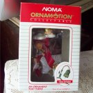 Noma Ornamotion Angels on a Cloud Rotating Christmas Ornament Red Ribbon