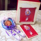 Ballet Photo Holder Hallmark Christmas Ornament 2002 Purple dancing feet ballet shoes