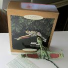 Star Trek Klingon Bird of Prey Hallmark Magic Ornament Lights 1994