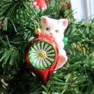 Purr-fect Holidays 2002 Carlton Kitten with Christmas Ornament