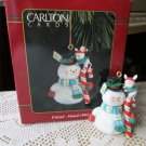 Carlton Friend 1995 Christmas Ornament Snowman Mouse Candy Cane