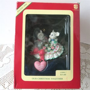Carlton 1994 Our Christmas Together White Mice with Candies