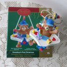 2006 Grandson's First Christmas Carlton Jolly Jumper w Baby Bear Ornament