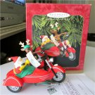 Hallmark Motorcycle Chums 1997 Christmas Ornament  Magic Light