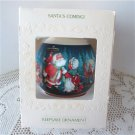 Santas Coming 1981 Hallmark Satin Ball Ornament