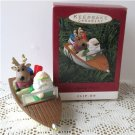 Making Waves Hallmark Christmas Ornament Motor Boat Clip On 1993