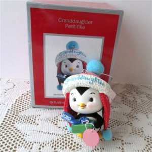 Granddaughter 2010 Carlton Personalized Christmas Ornament Plush