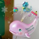 Baby's First Christmas 2004 Baby Boy Whale Fish ornament by Carlton Carousel