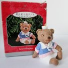Hallmark 1998 Granddaughter Teddy Bear Christmas Ornament