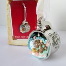 Babys First Christmas 2004 Silver Cup Bunny Hallmark Ornament