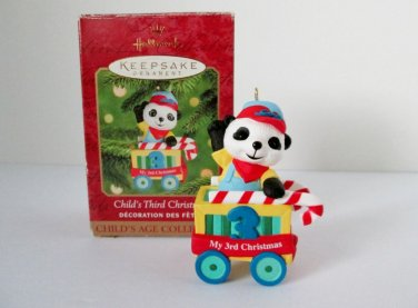 2000 Childs Third Christmas Peppermint Express Baby Age Collection