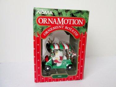 Santa in Golf Cart Noma Ornamotion Christmas Fore Rotating