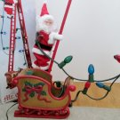 Mr Christmas Stepping Santa Lighted Musical Ladder and Sleigh