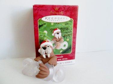Cool Decade 2000 Hallmark Series Walrus Hallmark Christmas Ornament