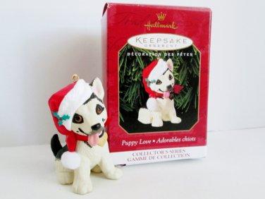 1999 Puppy Love Ninth in Series Hallmark Ornament Shepherd Pup