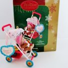 Babys First Christmas 2005 Carlton Baby Stroller Ornament A Baby Girl