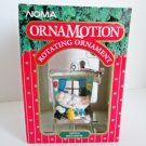 Noma Ornamotion Santas Bath House Christmas Rotating Ornament