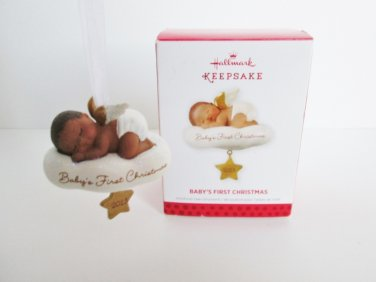 Baby's First Christmas 2013 African American Baby Angel on Cloud by Hallmark Keepsake