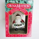 Noma Ornamotion Ornament Rolly Santa glass blown glitter rotating with motor