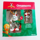 Looney Tunes Bugs Bunny by Trevco with Miniature Ornament, on Candy Cane Sled