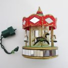 Noma Ornamotion Carousel Horses Merry Go Round Christmas Tree Rotating Decoration with Motor