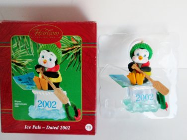 Ice Pals Carlton 2002 Christmas Ornament Penguin 11th in series life jacket