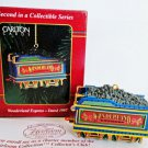 Carlton Wonderland Express 1997 Coal Car Train Ornament 2nd in Series