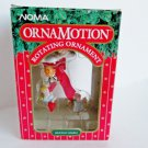 Noma Ornamotion Angels on a Cloud Rotating Christmas Ornament Red