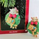 Carlton Merry Mischief Makers 1996 1st in Series Kitten Christmas Ornament Collectible Cat