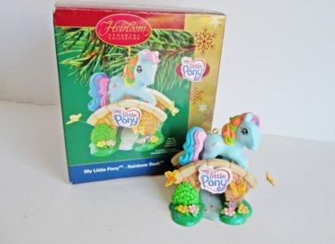 My Little Pony, Rainbow Dash, Carlton 2005 Christmas Ornament copyright Hasbro Pony Pals