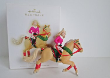 2009 Barbie Best in Show Barbie Doll and Tawny Horse Hallmark Christmas Ornament