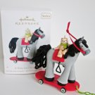 A Pony for Christmas Hallmark 2011 Ornament Carousel Horse w Teddy Bear Fourteenth in Series